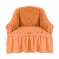 Чехол на кресло с оборкой (Оранжевый)