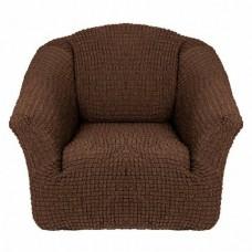 Чехол на кресло без оборки (шоколад)