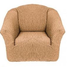 Чехол на кресло без оборки (Медовый)