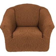 Чехол на кресло без оборки (Коричневый)