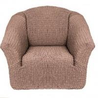 Чехол на кресло без оборки (Капучино)