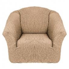 Чехол на кресло без оборки (Молочный)