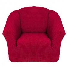 Чехол на кресло без оборки (Бордовый)