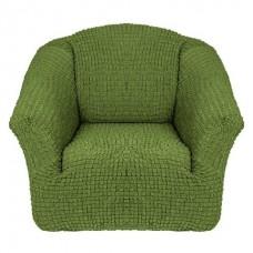 Чехол на кресло без оборки (Оливковый)