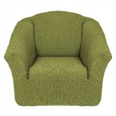 Чехол на кресло без оборки (Фисташковый)
