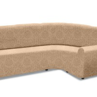 Чехол на классический угловой диван универсальный Богемия Беж