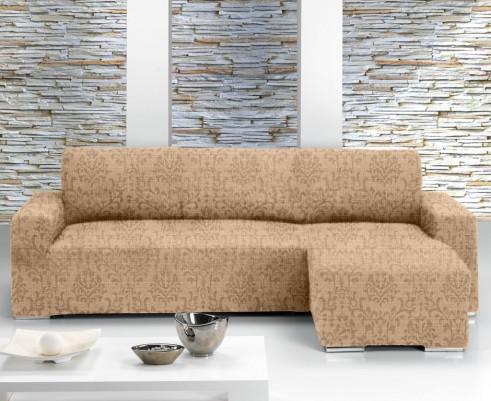 Чехол на угловой диван с выступом справа Европейский Богемия Беж