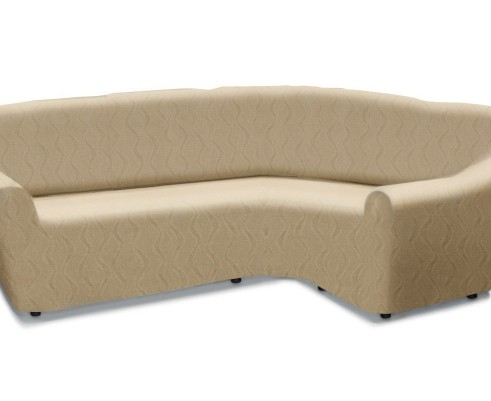 Чехол на классический угловой диван универсальный Тоскана Марфил