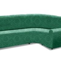 Чехол на классический угловой диван универсальный Богемия Верде
