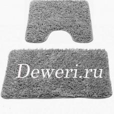 Коврики для ванной и туалета серые 06