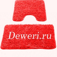 Коврики для ванной и туалета красные 07