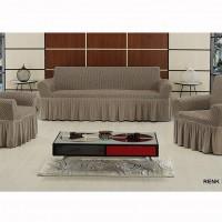 Чехол на диван и 2 кресла Vip Altinkoza темно серый S-13