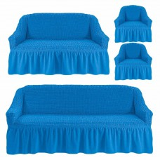 Чехол на 3-х местный диван, 2-х местный диван и 2 кресла Синий