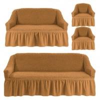 Чехол на 3-х местный диван, 2-х местный диван и 2 кресла Горчица