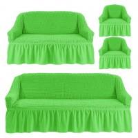 Чехол на 3-х местный диван, 2-х местный диван и 2 кресла Салатовый