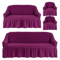 Чехол на 3-х местный диван, 2-х местный диван и 2 кресла Фиолетовый