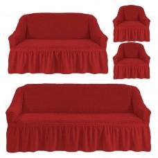 Чехол на 3-х местный диван, 2-х местный диван и 2 кресла Кирпичный