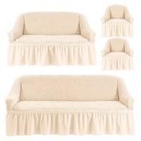 Чехол на 3-х местный диван, 2-х местный диван и 2 кресла Шампань 4X-05