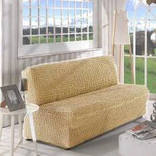 Чехол на диван без подлокотников  бежевый B-101