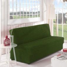 Чехол на диван без подлокотников зеленый B-110