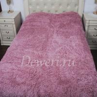 Плюшевый плед с длинным ворсом грязно розовое QW-20