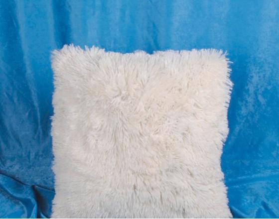 Наволочка декоративная бамбуковая белая 50х50 см. H-04