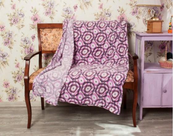 Плед бамбуковый фиолетовый