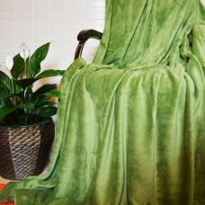 Плед покрывало бамбуковый зеленый CC-01