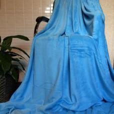 Плед покрывало бамбуковый голубой CC-02