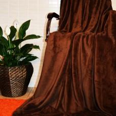 Плед покрывало бамбуковый коричневый CC-06