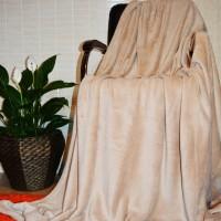 Плед покрывало бамбуковый бежевый CC-07