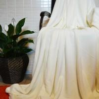 Плед покрывало бамбуковый молочный CC-08