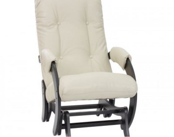 Кресло-качалка глайдер 68 каркас Венге, экокожа Polaris Beige