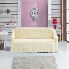 Чехол на трехместный диван универсальный шампань