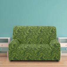 Чехол на двухместный диван универсальный Данубио Верде