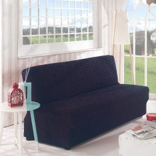 Чехол на диван без подлокотников темно серый B-112