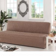 Чехол на диван без подлокотников какао B-102