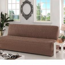 Чехол на диван без подлокотников кофе B-103