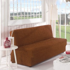 Чехол на диван без подлокотников корица B-113