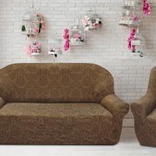Комплект чехлов на 3-ёх местный диван и два кресла Богемия Марон