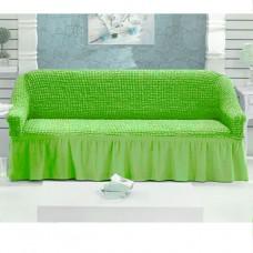 Чехол на трехместный диван салатовый W-10