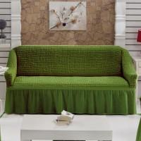 Чехол на диван трехместный зеленый W-08