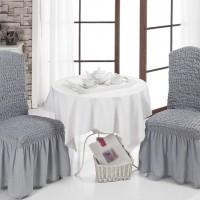 Комплект чехол на стул со спинкой, 2 шт. серые