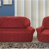 Комплект чехлов на 3-ёх местный диван и два кресла Богемия Рохо