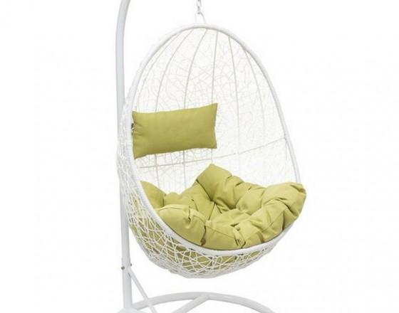Подвесное кресло LESET SAILS, каркас Белый, подушка Зелёная