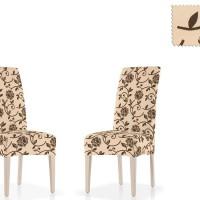 Чехол на стул со спинкой универсальный Акапулько Беж (2 шт)