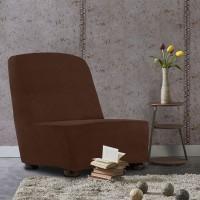Чехол на кресло без подлокотников универсальный Аляска Марон