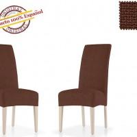 АЛЯСКА - МАРОН. Европейский чехол на стул со спинкой (2шт)