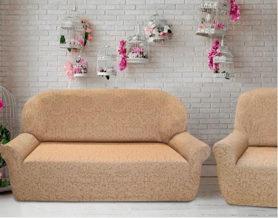 Комплект чехлов на 3-ёх местный диван и два кресла Богемия Беж