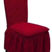 Комплект чехлов на стулья жаккард 4шт. Бордовый